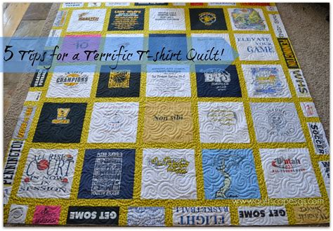 how to make a tee shirt quilt materials cutting the quiltscapes 5 tips for a terrific t shirt quilt