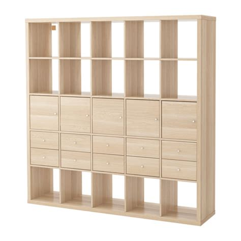 kallax shelving unit with 10 inserts ikea