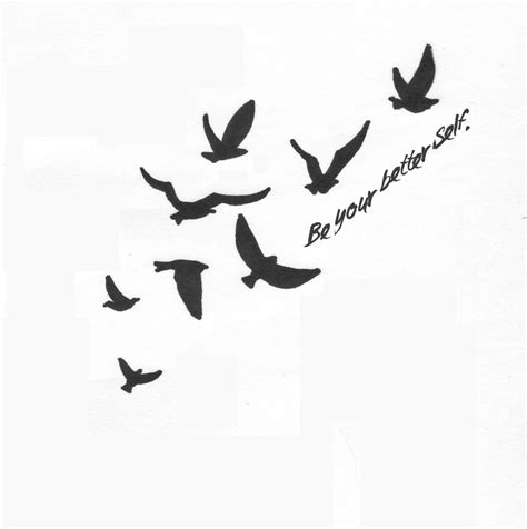 small silhouette tattoo small flying bird silhouette flying birds