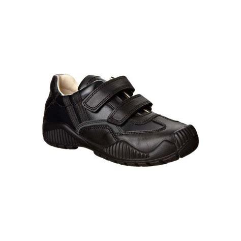 serse black leather boys shoe