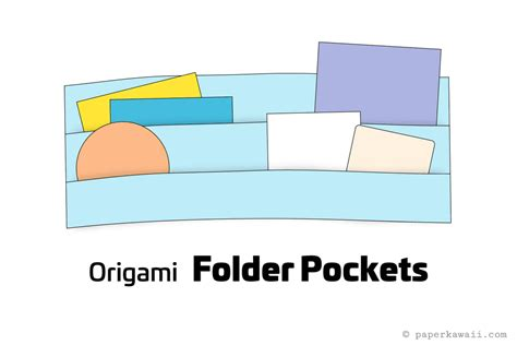 How To Make Paper Folders With Pockets - make some origami folder pockets