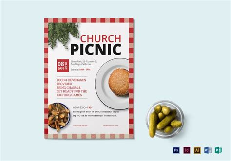 church picnic flyer templates church flyers 45 free psd ai vector eps format free premium templates