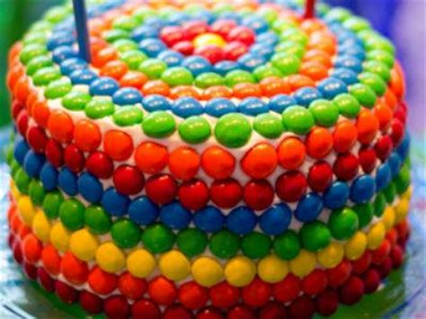 Skittles Decorations by 10 Cool Cake Decorating Ideas