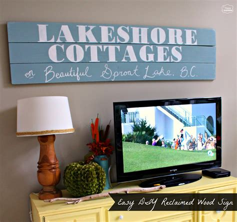 Sign For Living Room In Asl Easy Diy Large Wood Sign For The Tv Wall The Happy Housie