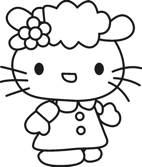 hard hello kitty coloring pages free hello kitty frog coloring pages