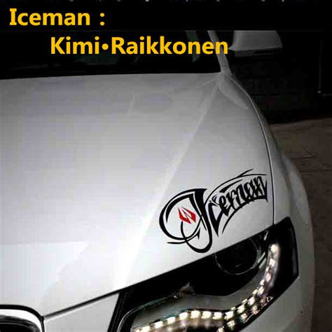 Sticker Tuning Car by F1 Driver Iceman Kimi Raikkonen Car Stickers Lights Brow