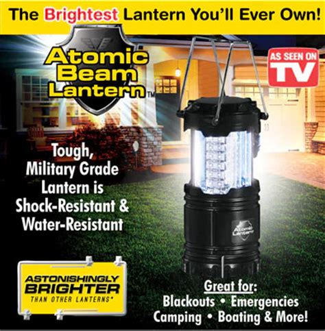 As Seen On Tv Bathtub Lights by As Seen On Tv Atomic Beam Lantern The Ultimate Portable