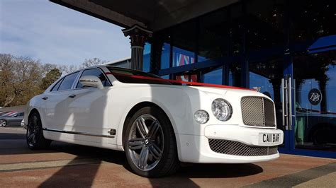bentley white white bentley mulsanne hire