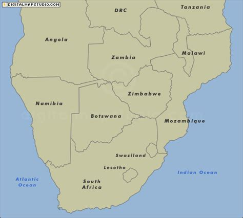 southern africa map free maps of africa and southern africa by customdigitalmaps