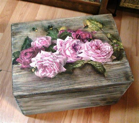 Decoupage On Wood - patina on wood and decoupage crosses