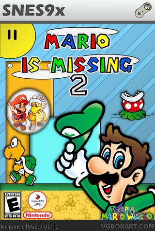 Mario is Missing 2 SNES Box Art Cover by james1552 P Design Logo