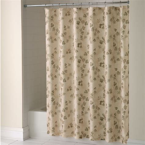 material shower curtains essential home shower curtain classic ivy fabric home