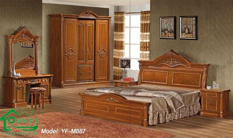 Wood Furniture The Flat Decoration Wooden Bedroom Furniture