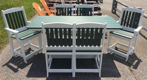 rectangular counter height table and chairs poly 33 x 72 rectangular counter height table and
