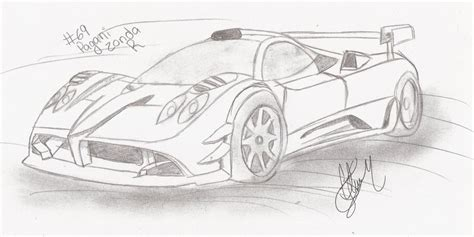 pagani drawing how to draw zonda r