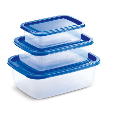 Teflon Tupperware transparent tupperware with blue cover stock image image