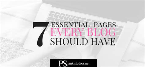 7 Essential Accessories Every Should by 7 Essential Pages Every Should Pink Studios