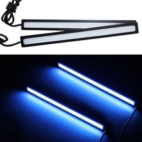 Lu Led Waterproof Blue Color Dc12v 17cm 2 Pcs Promo 2x 17cm blue waterproof ultra thin 9w cob led daytime running light led diy drl fog car lights