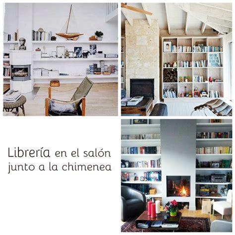 librerias salon librerias en salones junto a la chimenea