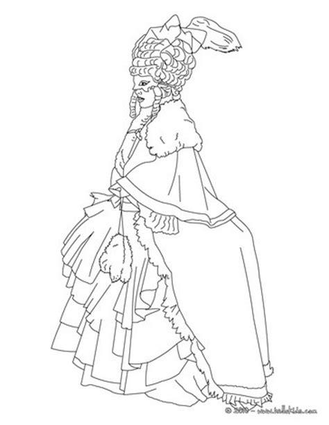 Venitian Princess Costume Coloring Pages Hellokids Com Princess Costume Printable