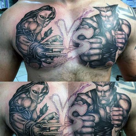 40 Street Fighter Tattoo Designs For Men Video Game Ink Fighter Tattoos