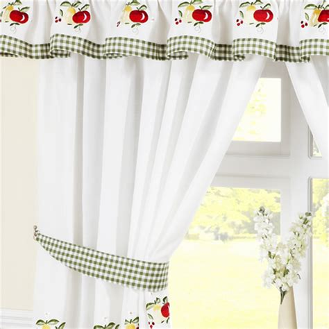 Kitchen Curtains Uk Fruits Ready Made Kitchen Curtains Kitchen Curtains Curtains Linen4less Co Uk
