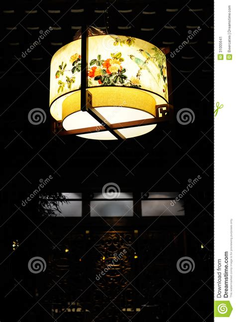 an object is suspended from the roof of a lift big lantern roof stock image image 31005641