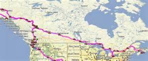 map of canada and alaska border the route fromalaskatobrazil