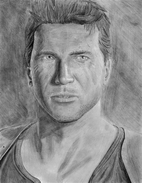 Uncharted 4 Sketches by Uncharted 4 Nathan Drawing Attempt By