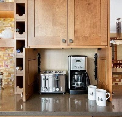 kitchen appliance storage 40 appliance storage ideas for smaller kitchens