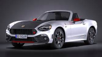 Fiat 124 Abarth Spider Fiat 124 Spider Abarth 2017 3d Model Max Obj 3ds Fbx C4d