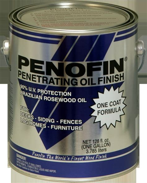 penofin blue label penetrating oil wood stain  gallon