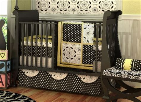 Elegant 10pc Black White Yellow Girl Crib Nursery Black And Yellow Crib Bedding