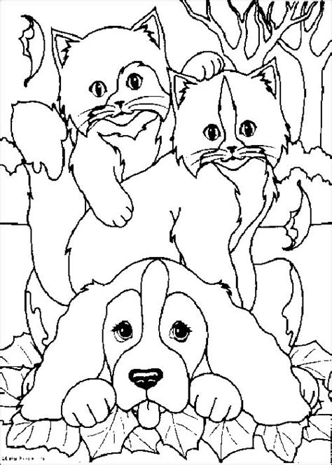 coloring sheets of dogs and cats coloriage chien 22 lescoloriages net