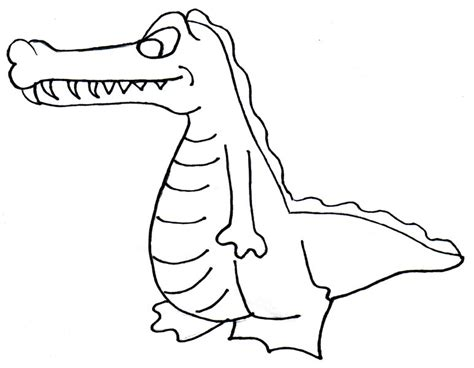 Crocodile Image Outline by Crocodile Outline Clipart Panda Free Clipart Images