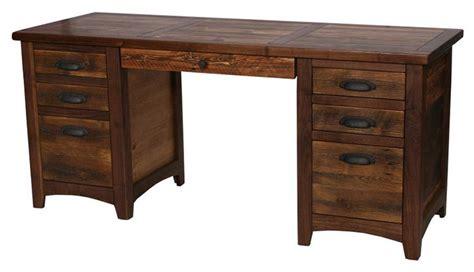 rustic walnut executive desk