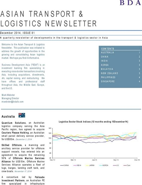 operations and logistics newsletter template download