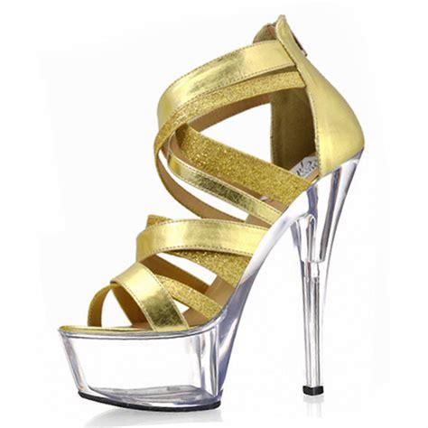 15 cm fashion glitter high heel sandals high heel