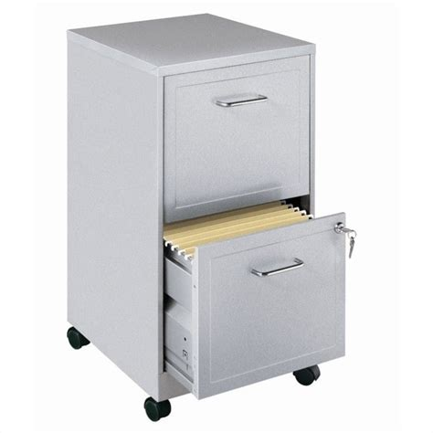 Silver File Cabinet by Mobile 2 Drawer File Cabinet In Silver 16873