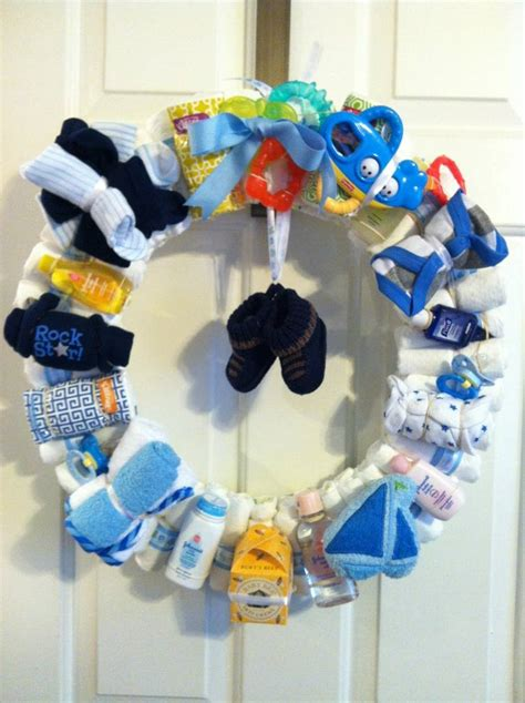diy baby boy shower favor baby ideas baby boy diaper wreath about time i see a cute baby boy