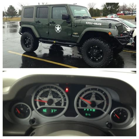 jeep wrangler army edition new jeep wrangler jk army edition custom gauge cluster