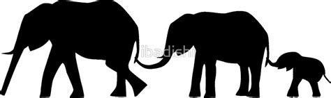 Home Decor Elephants by Quot Silhouettes Of 3 Elephants Holding Tails Quot Stickers By