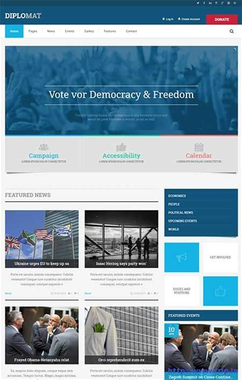 website templates for voting system 13 best political website template 2017 frip in