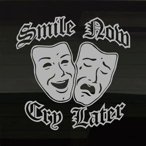 dramacool com smile now cry later masks drama cool large silver decal