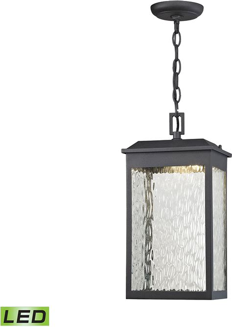 Contemporary Outdoor Pendant Lighting Elk 45203 Led Newcastle Contemporary Textured Matte Black