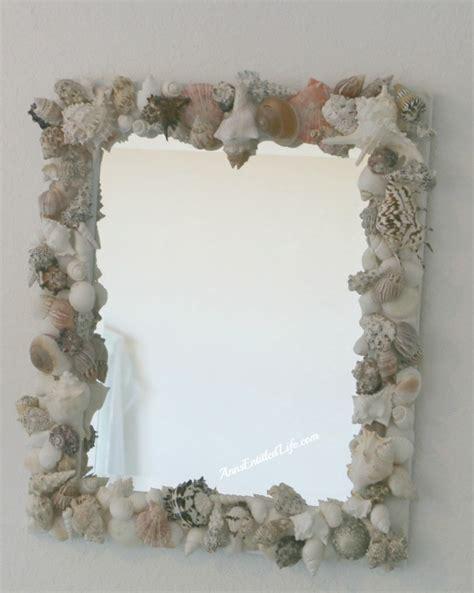outstanding beachy bathroom diy shell mirror shell how to make a seashell mirror