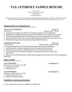 Tax Lawyer Sle Resume by Tax Attorney Resume Sle Best Attorney Resume Exles And Resume