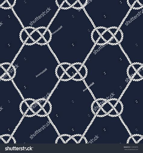 seamless nautical pattern seamless nautical rope pattern endless navy stock vector