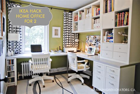 ikea office hack getting organized rambling renovators