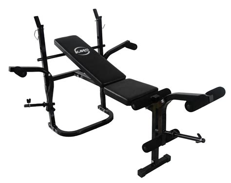 bench workout foldable gym fitness weight lift bench press arm leg curl